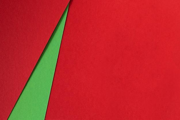 Fondo abstracto de papel de textura verde y rojo