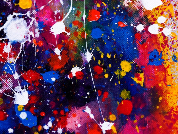 Fondo abstracto de la pintura de la acuarela de las gotas coloridas.