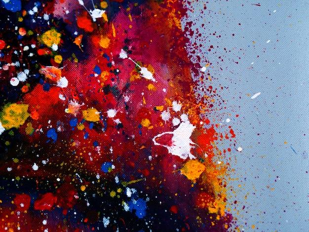 Fondo abstracto de pintura al óleo colorida.
