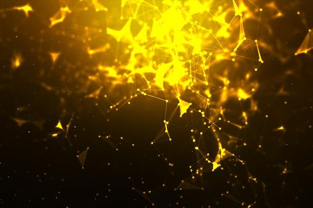 Fondo abstracto punto y línea de conexión para tecnología cibernética futurista y concepto de conexión de red