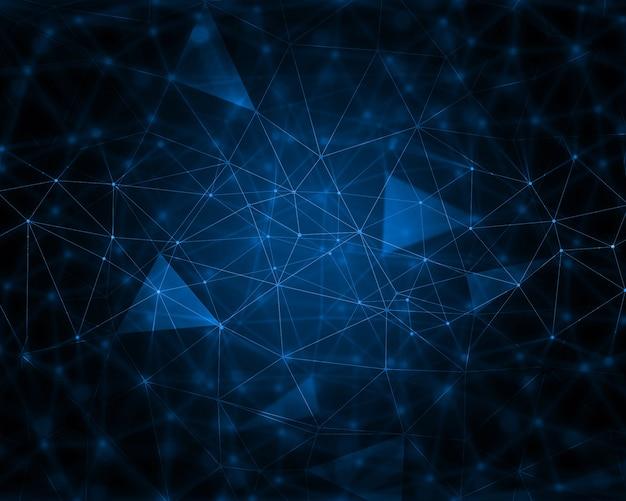 Fondo abstracto technológico con líneas de conectividad