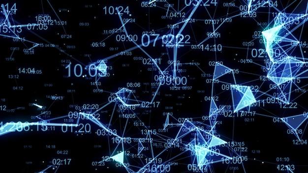 Fondo abstracto de tecnología de datos del plexo