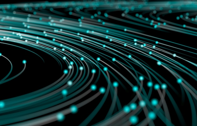 Fondo abstracto de tecnología digital. visualización de grandes datos. estructura de conexión de red.