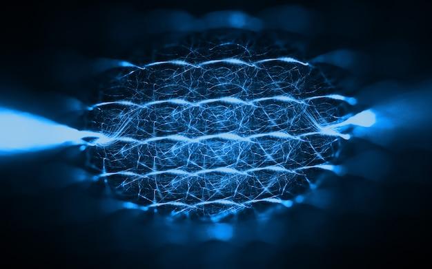 Fondo abstracto de tecnología fractal