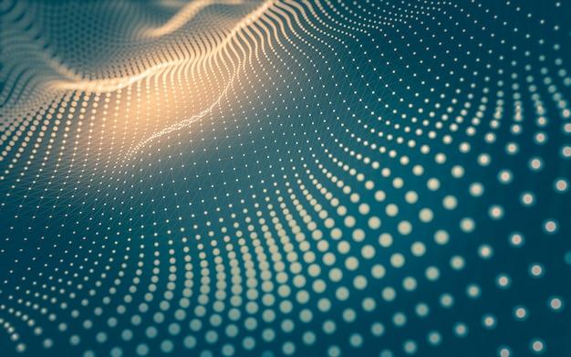 Fondo abstracto. tecnología de moléculas con formas poligonales, puntos y líneas de conexión. estructura de conexión. visualización de grandes datos.
