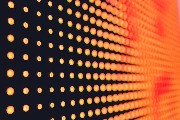 Fondo abstracto de tecnología de patrón de luz led. de cerca