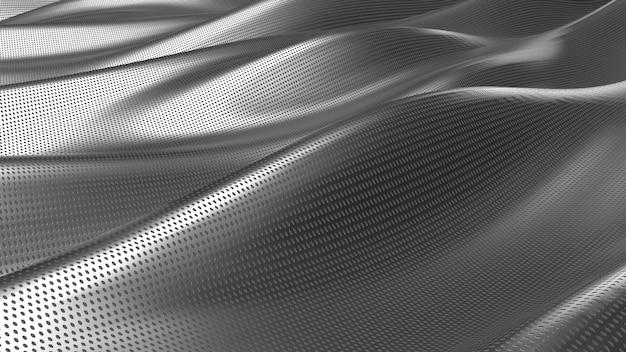 Fondo abstracto de tela plateada