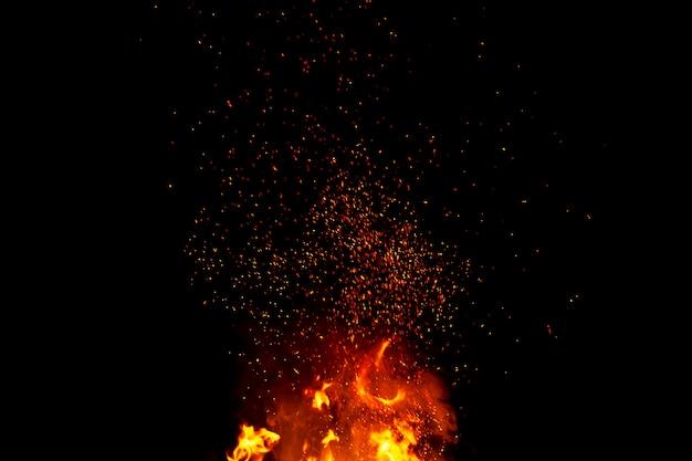 Fondo abstracto de la textura de las llamas del fuego del resplandor