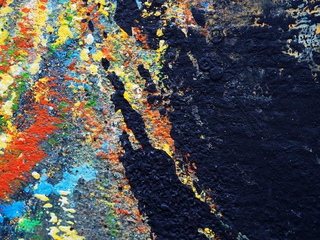 Fondo abstracto de textura de pintura acrílica colorida.