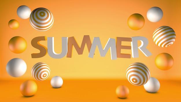 Fondo abstracto de verano con esferas