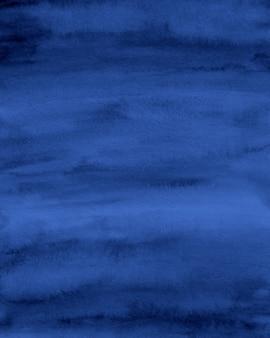 Fondo acuarela azul marino, papel digital azul abstracto
