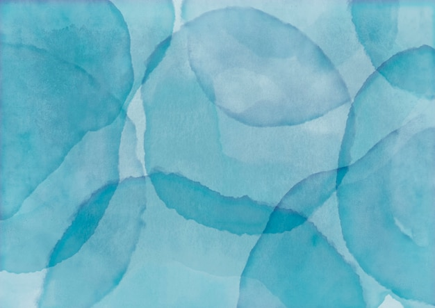 Fondo acuarela azul con sello de pintura