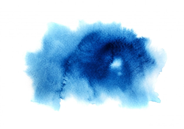 Fondo de acuarela azul.