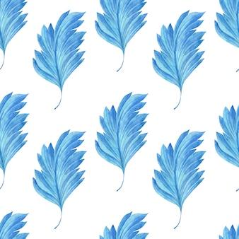 Fondo de acuarela con ilustración de hojas estilizadas antiguas