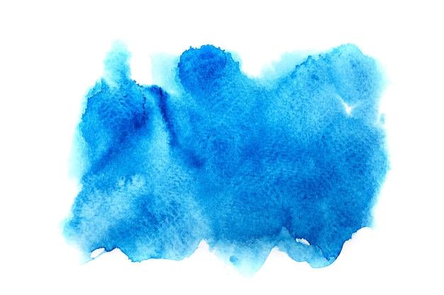 Fondo de acuarela de mancha azul.
