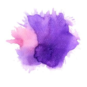 Fondo de acuarela de mancha púrpura.