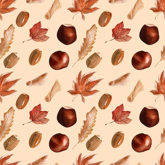Fondo de acuarela otoño de encaje brillante