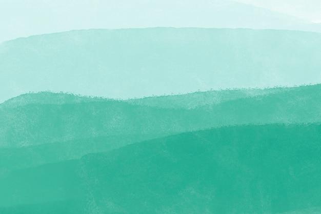 Fondo de acuarela verde azulado, diseño abstracto de papel tapiz de escritorio