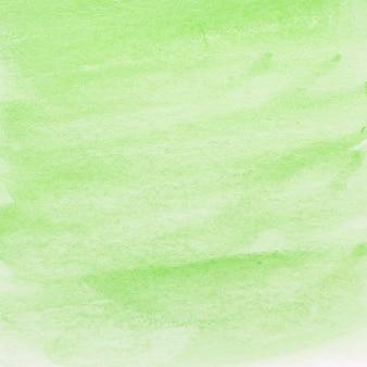 Fondo de acuarela verde pintado