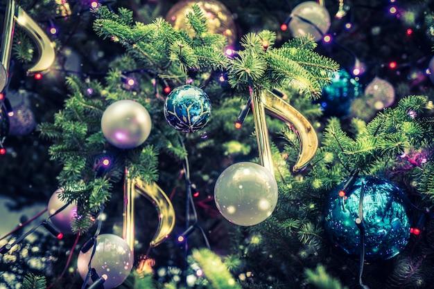 Fondo de adorno de decoración de navidad