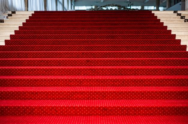 Fondo de alfombra roja