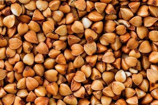 Fondo de alimentos de alforfón. cereales útiles para vegetarianos.