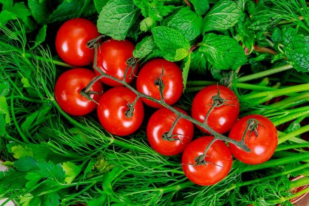 Fondo de alimentos orgánicos del mercado de verduras de agricultores
