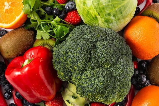 Fondo de alimentos ricos en vitamina c