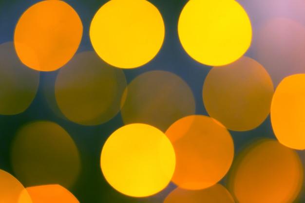 Fondo amarillo abstracto bokeh