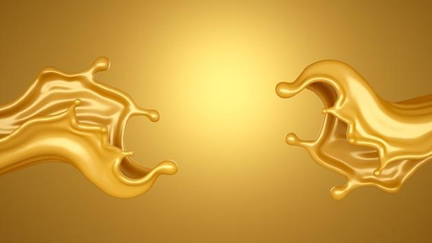 Fondo amarillo con un toque de caramelo. representación 3d