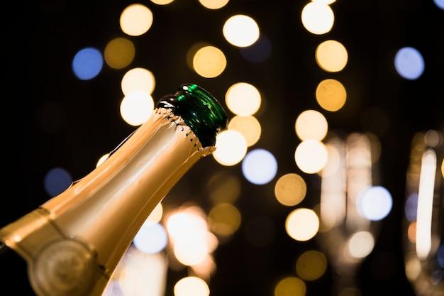 Fondo de año nuevo con champán