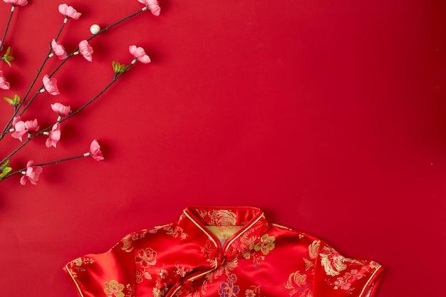 Fondo de año nuevo chino rojo.