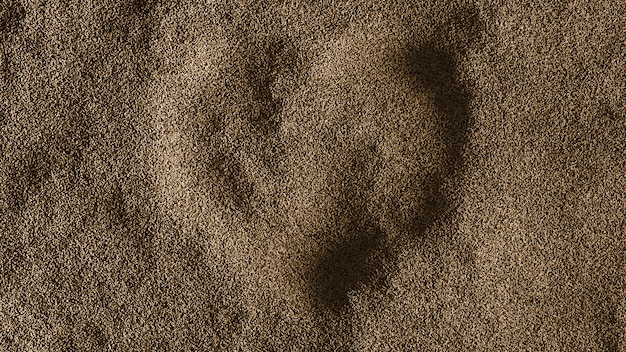 Fondo de arena de corazón