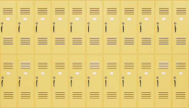 Fondo de armario de la escuela