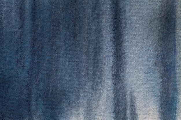 Fondo de arte abstracto azul marino y gris colores acuarela sobre lienzo