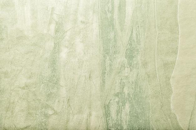 Fondo de arte abstracto color verde, pintura multicolor sobre lienzo.