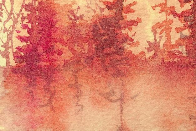 Fondo de arte abstracto colores rojo y naranja.