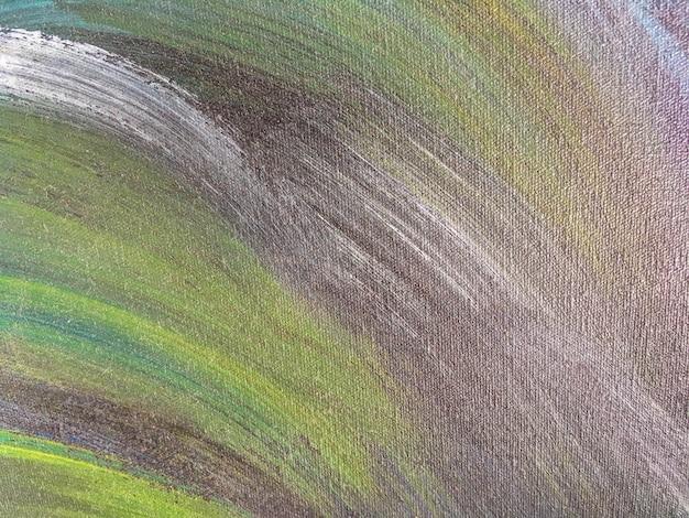 Fondo del arte abstracto verde y color marrón.