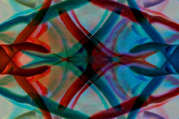 Fondo artístico de formas abstractas y formas sobre pintura artística; diseño