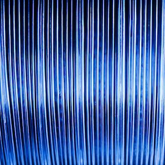 Fondo azul abstracto de cables y alambres