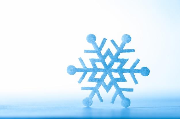 Fondo azul copo de nieve