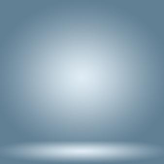Fondo azul degradado de lujo abstracto azul oscuro liso con banner de estudio de viñeta negra
