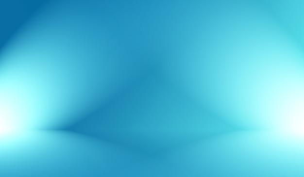 Fondo azul degradado de lujo abstracto. azul oscuro liso con banner de estudio de viñeta negra. Foto gratis