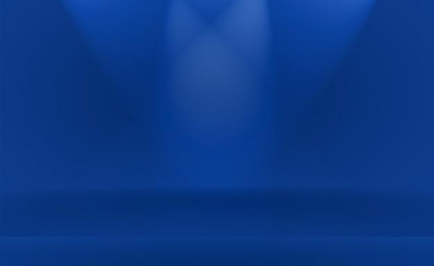 Fondo azul degradado de lujo abstracto. azul oscuro liso con banner de estudio de viñeta negra.