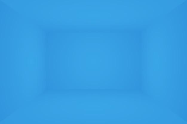 Fondo azul degradado de lujo abstracto liso azul oscuro con viñeta negra studio banner d studio ...
