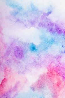 Fondo azul y púrpura acuarela colorida.