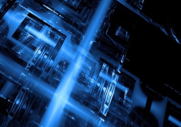Fondo azul tecnológico de circuito