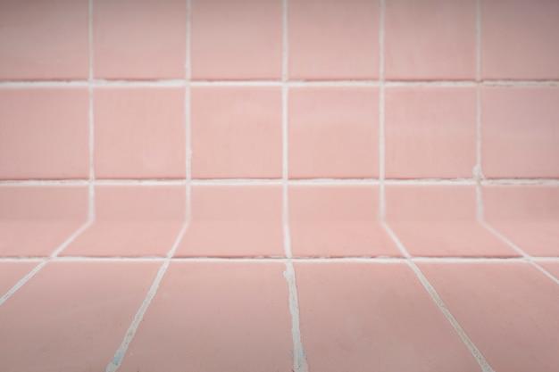 Fondo de azulejos de color rosa