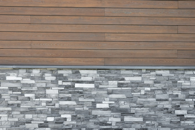 Fondo de azulejos de madera. fachada en la casa