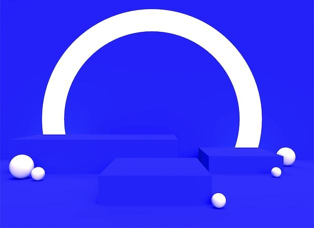 Fondo de backgraund de podio 3d pastel violeta realista fondo de renderizado plataforma estudio soporte de luz